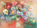 Works on Paper, JEAN DUFY (French, 1888-1964). Fleurs. Watercolor and gouache on paper. 17 x 22-1/4 inches (43.2 x 56.5 cm) (sight). Sig...