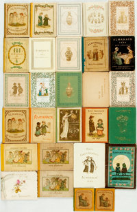 [Kate Greenaway] Group of Twenty-Eight Publications Illustrated by Kate Greenaway. Includes twenty-six almanacs and t