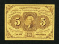 Fractional Currency:First Issue, Fr. 1230 5¢ First Issue Extremely Fine.. ...