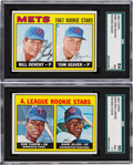Baseball Cards:Lots, 1967 Topps Tom Seaver and Rod Carew SGC Graded Pair (2)....