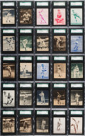 Baseball Cards:Sets, 1934-36 Batter-Up Baseball SGC Graded Near Set (161/192). ...