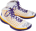 Basketball Collectibles:Others, Circa 2008 Kobe Bryant Game Worn Signed Shoes - Gifted to SpikeLee. ...