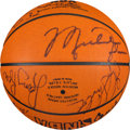 Basketball Collectibles:Balls, 1992 Dream Team I Signed Basketball With Provenance from GoldenState Warriors....