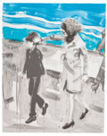 Fine Art - Work on Paper:Print, ELIZABETH PEYTON (American, b. 1965). Jackie and John, 2000.Lithograph in colors on wove paper. 24 x 19 inches (61.0 x ...