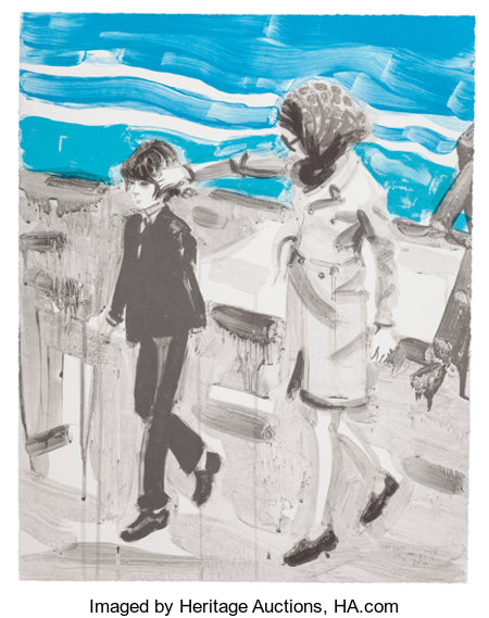 ELIZABETH PEYTON (American, b. 1965) Jackie and John, 2000 Lithograph in colors on wove paper 24 x 19 inches (61.0 x ...