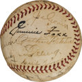 Baseball Collectibles:Balls, 1938 American League All-Star Team Signed Baseball....