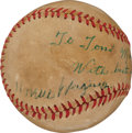 Baseball Collectibles:Balls, 1948 Pittsburgh Pirates Legends Signed Baseball with Honus Wagner....