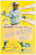 Baseball Collectibles:Others, 1950 The Jackie Robinson Story Large Movie Poster....