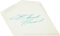 Baseball Collectibles:Others, 1960's Roberto Clemente Signed Cut Signature, PSA/DNA NM-MT 8. ...