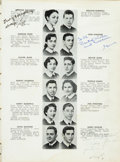 Baseball Collectibles:Publications, 1953 Sandy Koufax Signed High School Yearbook. ...