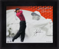 Golf Collectibles:Autographs, Tiger Woods Signed Signature Shots UDA Display....