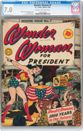 Golden Age (1938-1955):Superhero, Wonder Woman #7 (DC, 1943) CGC FN/VF 7.0 Cream to off-white pages....