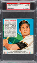 Baseball Cards:Singles (1950-1959), 1952 Red Man Bobby Thomson #24 PSA Mint 9 - Pop Two, None Higher....