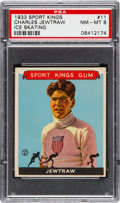 Baseball Cards:Singles (1930-1939), 1933 Goudey Sport Kings Charles Jewtraw #11 PSA NM-MT 8. ...