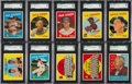 Baseball Cards:Lots, 1959 Topps Baseball (#'s 111-299) SGC 96 MINT 9 Collection (38). ...