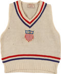 Miscellaneous Collectibles:General, 1932 Bill Chisholm Event Worn Los Angeles Summer OlympicsSweater....
