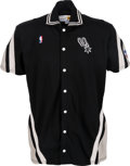 Basketball Collectibles:Uniforms, 1987 Dave Greenwood Game Worn San Antonio Spurs Warm Up Jacket andPants - Extremely Rare Style....