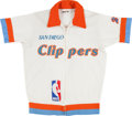 Basketball Collectibles:Uniforms, 1982-84 Hutch Jones Game Worn San Diego Clippers Warm Up Jacket andPants....