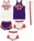 Basketball Collectibles:Uniforms, 1980's Phoenix Suns Game Worn Jerseys, Shorts and Warm Ups (6)....
