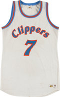 Basketball Collectibles:Uniforms, Early 1980's Michael Brooks Game Worn San Diego Clippers Jersey....