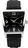 "Timepieces:Wristwatch, Corum Ref. 82.404.20 Steel Automatic ""Trapeze"" Wristwatch. ..."