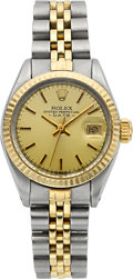 Timepieces:Wristwatch, Rolex Lady's Oyster Perpetual Date Ref. 6917 Steel & Gold. ...