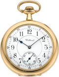 Timepieces:Pocket (post 1900), Waltham 14k Gold 12 Size Riverside Maximus, Box & Papers. ...
