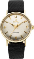 Timepieces:Wristwatch, Omega 14k Gold Seamaster Automatic. ...