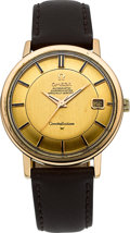 Timepieces:Wristwatch, Omega 18K Rose Gold Constellation. ...