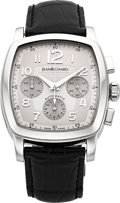 "Timepieces:Wristwatch, JeanRichard Ref. 25016 ""TV Screen"" Steel Automatic Chronograph. ..."