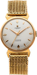 Timepieces:Wristwatch, Universal Geneve Gold Microtor Automatic With Gold Band, circa 1960. ...