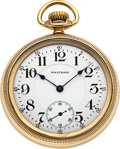 Timepieces:Pocket (post 1900), Waltham 23 Jewel 16 Size Riverside Maximus With Box & Papers....
