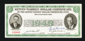 Miscellaneous:Other, Dewey-Warren Political Dollar Certificate 1948.. ...