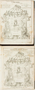 Books:Periodicals, [Bound Periodicals]. [Cartoons/Caricature]. Two Bound Volumes ofThe Lantern, Vols. II & III, 1852-1853. ... (Total: 2Items)