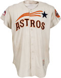 Baseball Collectibles:Uniforms, 1965 Houston Astros Game Worn Jersey. ...