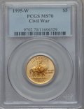 Modern Issues: , 1995-W G$5 Civil War Gold Five Dollar MS70 PCGS. PCGS Population (164). NGC Census: (540). Numismedia Wsl. Price for probl...