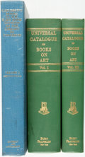Books:Reference & Bibliography, [Bibliography]. Pair of Incomplete Bibliographies in Three Volumes.Various publishers and dates. ... (Total: 3 Items)