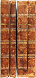 Books:Periodicals, [Bound Periodicals]. [Cartoons/Caricature]. Four Bound Volumes ofLa Orquesta, 1865-1869. Secunda and Tercero Epoc... (Total:4 Items)