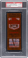Baseball Collectibles:Tickets, 1943 War Bond Game Full Ticket--Babe Ruth Hits His Very Last HomeRun....