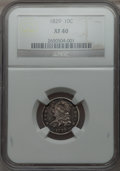 Bust Dimes: , 1829 10C Small 10C XF40 NGC. NGC Census: (11/255). PCGS Population(23/216). Mintage: 770,000. Numismedia Wsl. Price for pr...