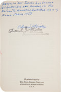 Basketball Collectibles:Publications, 1952 Edward J. Hickox Signed Basketball Rules Booklet....