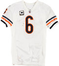 Football Collectibles:Uniforms, 2009 Jay Cutler Game Worn, Unwashed Chicago Bears Jersey and Pants - Worn 9/27 Vs. Seattle....