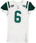 Football Collectibles:Uniforms, 2009 Mark Sanchez Game Worn, Unwashed New York Jets Jersey - Worn 12/3 Vs. Buffalo....