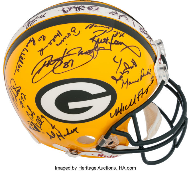 1997 Green Bay Packers Team Signed Helmet.... Football Collectibles ... 24e0d9c7b