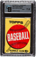 Baseball Cards:Unopened Packs/Display Boxes, 1963 Topps Baseball 2nd/3rd Series 5-cent Wax Pack GAI NM+ 7.5....