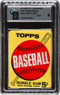 Baseball Cards:Unopened Packs/Display Boxes, 1963 Topps Baseball 2nd/3rd Series 5-Cent Wax Pack GAI Mint 9! ...