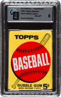 Baseball Cards:Unopened Packs/Display Boxes, 1963 Topps Baseball 2nd/3rd Series 5-Cent Wax Pack GAI NM-MT 8. ...