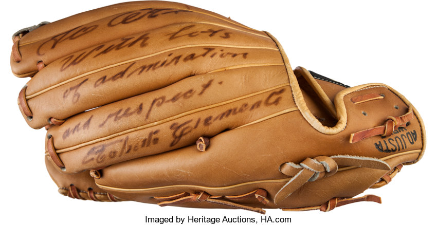the latest 8149b 4422d 1971 Roberto Clemente Signed Glove with Al Barlick Letter of ...