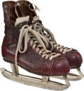 Hockey Collectibles:Equipment, 1965 Gordie Howe Game Worn Skates - Sourced from Trainer Lefty Wilson....