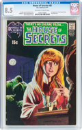 Bronze Age (1970-1979):Horror, House of Secrets #92 (DC, 1971) CGC VF+ 8.5 Off-white to whitepages....